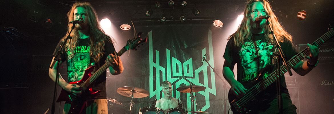 Dutch death metallers Bloodgod live in concert