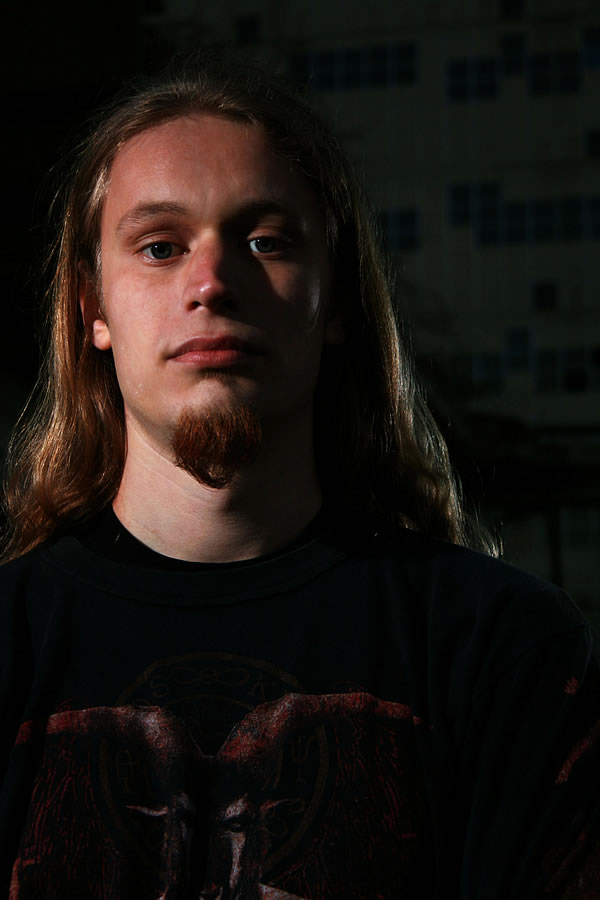 Profile of Bloodgod's guitarist and lead vocalist Daan by Jerry van Vliet  - click to open as large image